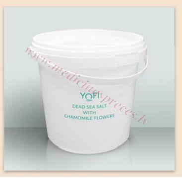 YOFI Dead Sea Salt ar kumelītēm, 1200 gr.