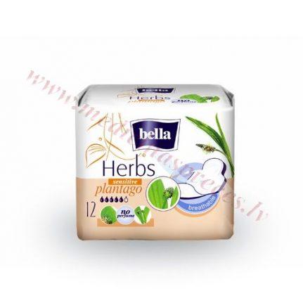Bella Herbs Plantago higiēniskās paketes, 12gb.