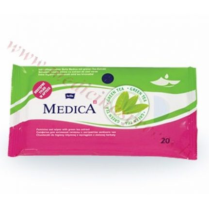 Bella Medica mitrās salvetes intīmai higiēnai.