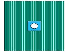 Pārklājs, līpoša atvere(6cm)50 x 60 cm.