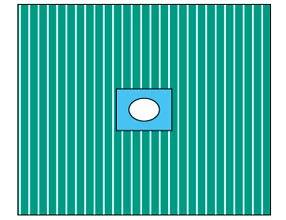 Pārklājs, līpoša atvere(7cm)75 x 90 cm.