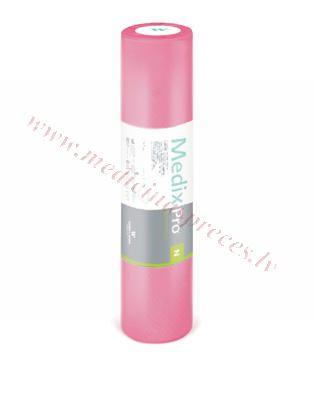 Medicīniskais rullis MedixPro N no neausta materiāla, rozā, perforētas loksnes 50cmx60cm.