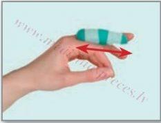 Pirkstu ortoze īslaicīgai terapijai. Dažādi izmēri.
