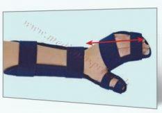 Plaukstas-apakšdelma ortoze. Dažādi izmēri,  paredzēta labai/kreisai rokai.