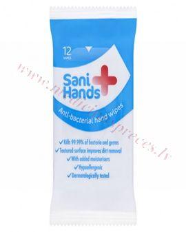 Antibakteriālās roku dezinfekcijas salvetes, N12.