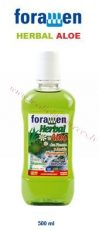 Foramen Herbal Aloe mutes skalojamais.