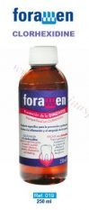 Mutes skalojamais Foramen Clorohexidine 0.12%, 250 ml.