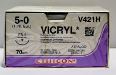 Vicryl 5-0 FS-2, 70 cm, 1gab.