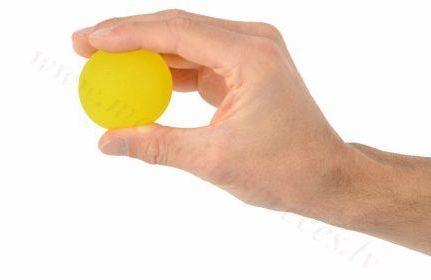 Masāžas gēla bumbiņa, dzeltena-īpaši vieglas pretestības.