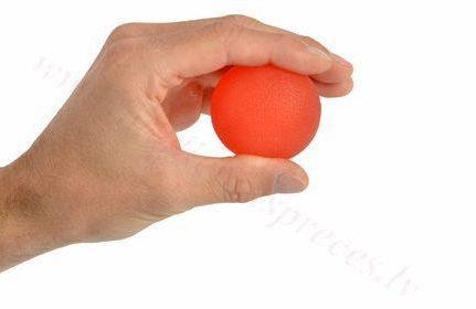 Masāžas gēla bumbiņa, sarkana-vieglas pretestības.