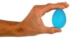 Masāžas gēla ola, zila-stipras pretestības.