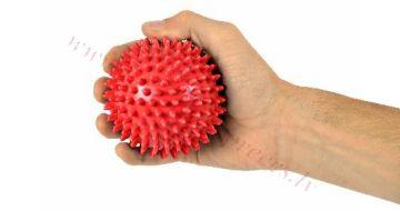 Bumbiņa masāžas 9 cm, sarkana, MSD.