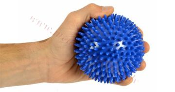 Bumbiņa masāžas 10 cm, zila, MSD.