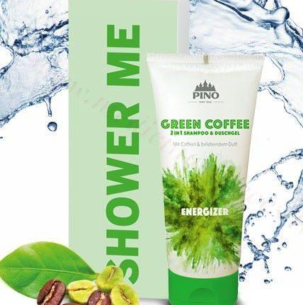 Shower Me! Zaļās kafijas dušas gēls&šampūns, 75 ml.