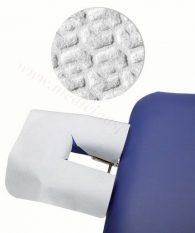 Pārklājs neausta materiāla masāžas galda galvgalim.