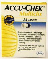 Accu-Chek Multiclix Lancetes, 24 gab.