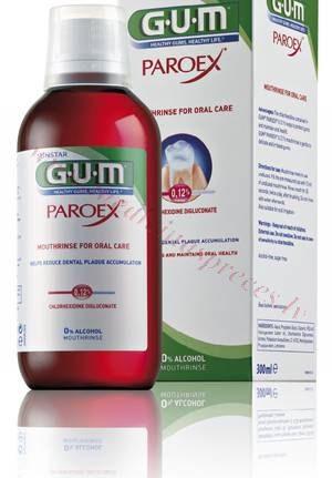 Mutes skalojamais līdzeklis GUM Paroex, 0.12 % hlorheksidīns, 300 ml.
