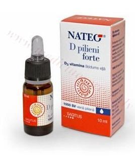 D Vitamīna pilieni NATEO Forte 1000SV 10ml.