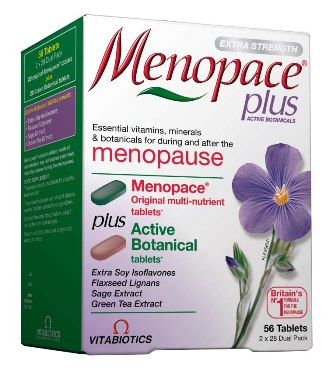 Menopace plus Botanicals, 56 tabletes.