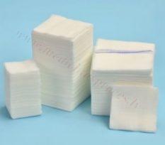 Marles salvete 7.5cm x 7.5cm, (17 diegi), 8 kārtas ar RTG diegu, nesterila, 100 gab.