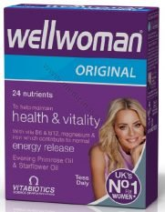 wellwoman-original-Iepakojuma-30 tabletes-vitamini-produkti-veselibas-stiprinasanai-vitamini-un-mineralvielas-vitabiotics-medicinaspreces.lv