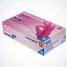 rozā nitrila cimdi kastite