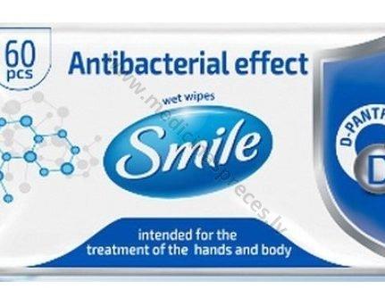 antibakterialas-iedarbības-mitras-salvetes-ar-pantenolu-smile-adas-kopsanai-biosphere-corparation-medicinaspreces.lv